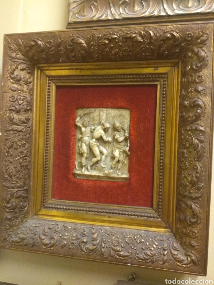 Arte: Espectacular Pareja de Relieves Religiosos de Alabastro - Siglo XVI - Vía Crucis - Malinas - Bélgica - Foto 3 - 180035123