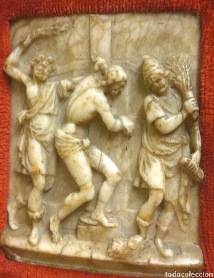 Arte: Espectacular Pareja de Relieves Religiosos de Alabastro - Siglo XVI - Vía Crucis - Malinas - Bélgica - Foto 7 - 180035123