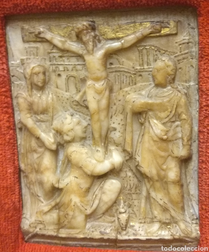 Arte: Espectacular Pareja de Relieves Religiosos de Alabastro - Siglo XVI - Vía Crucis - Malinas - Bélgica - Foto 15 - 180035123
