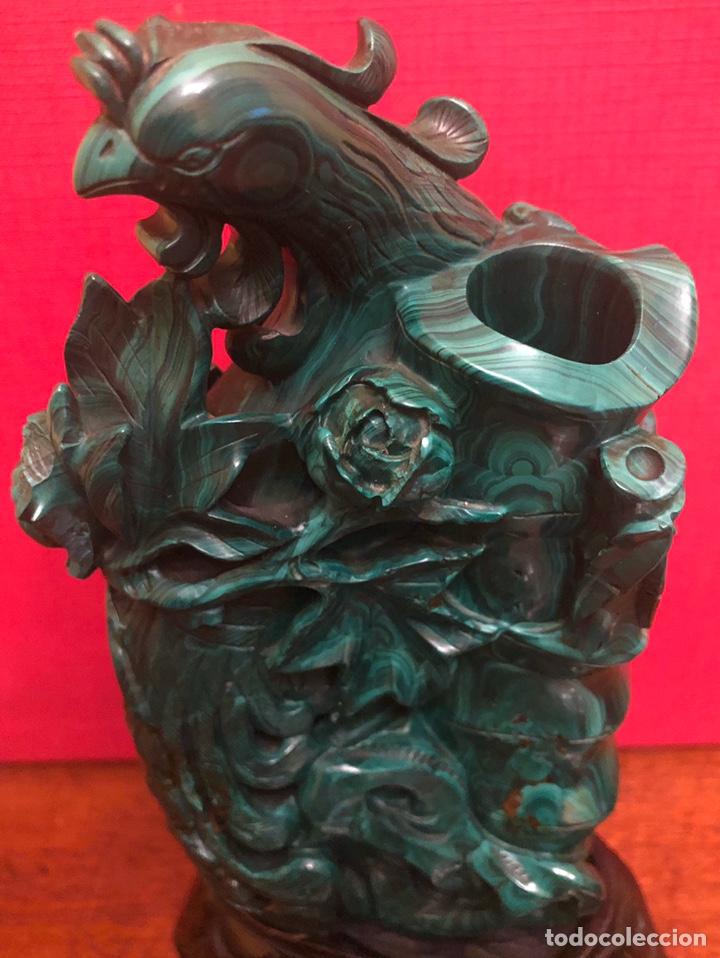 Arte: Preciosa figura en malaquita tallada - Foto 3 - 180189617