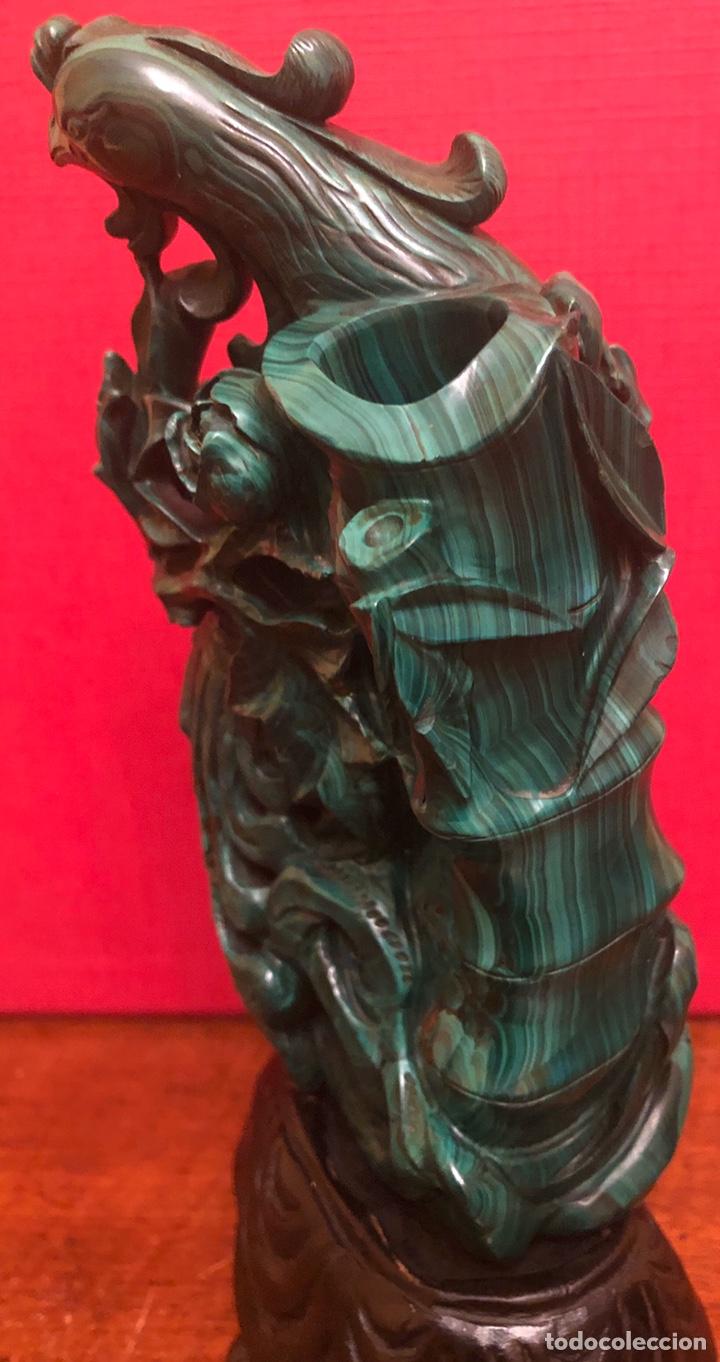 Arte: Preciosa figura en malaquita tallada - Foto 4 - 180189617