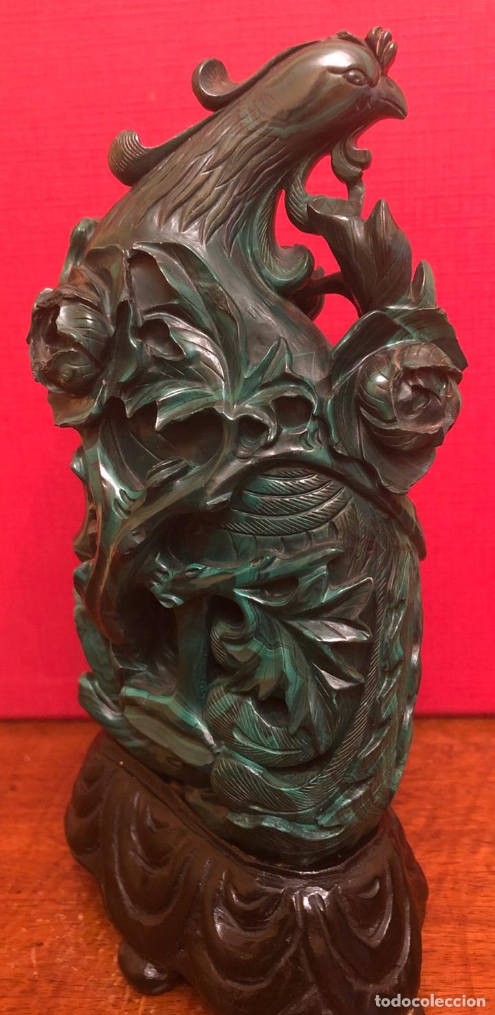 Arte: Preciosa figura en malaquita tallada - Foto 7 - 180189617