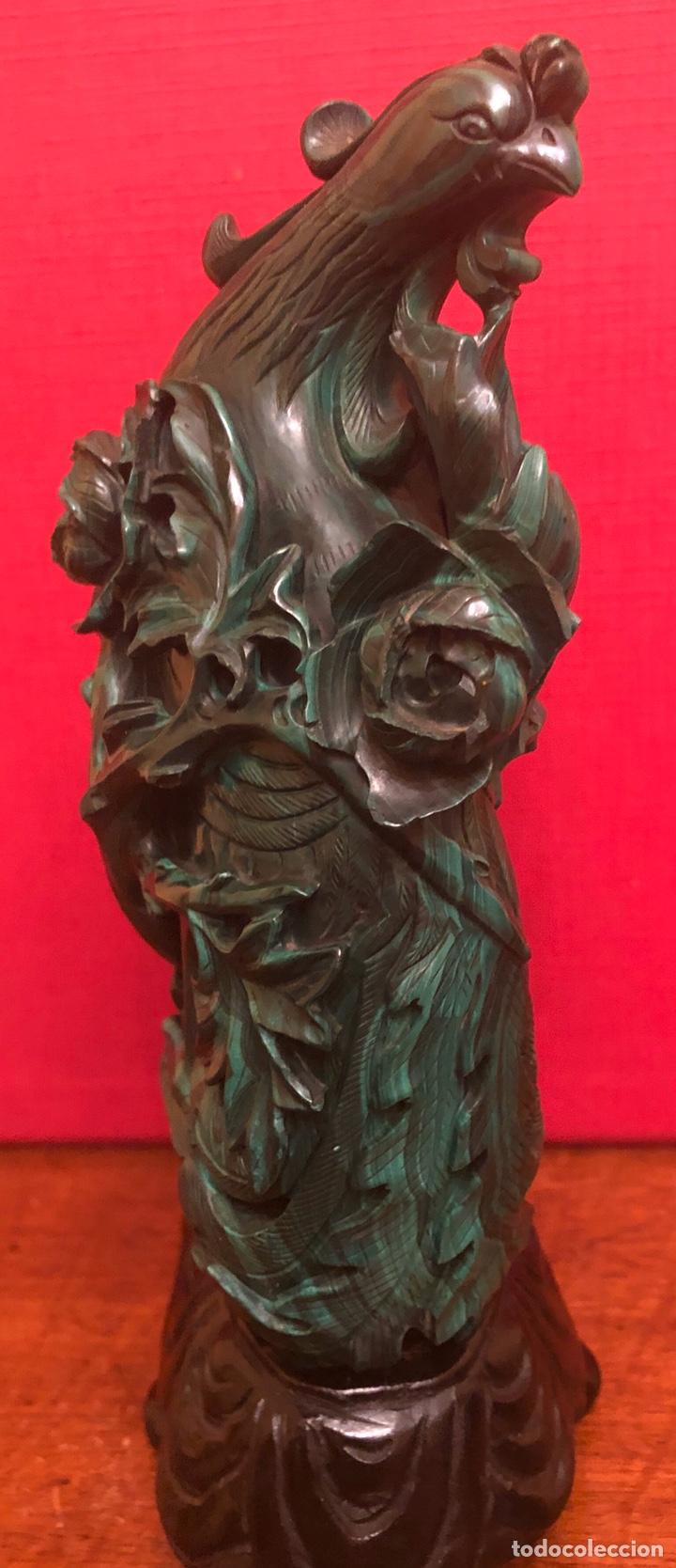 Arte: Preciosa figura en malaquita tallada - Foto 8 - 180189617