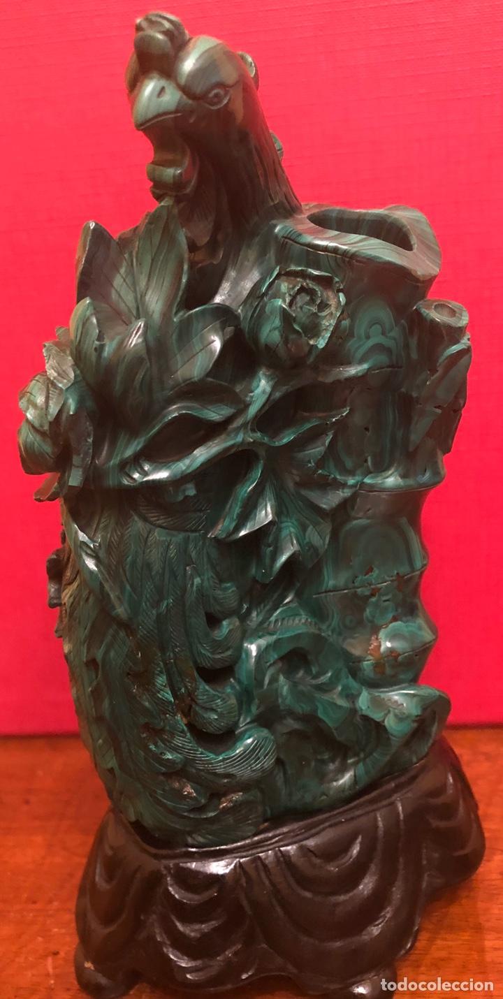 Arte: Preciosa figura en malaquita tallada - Foto 10 - 180189617