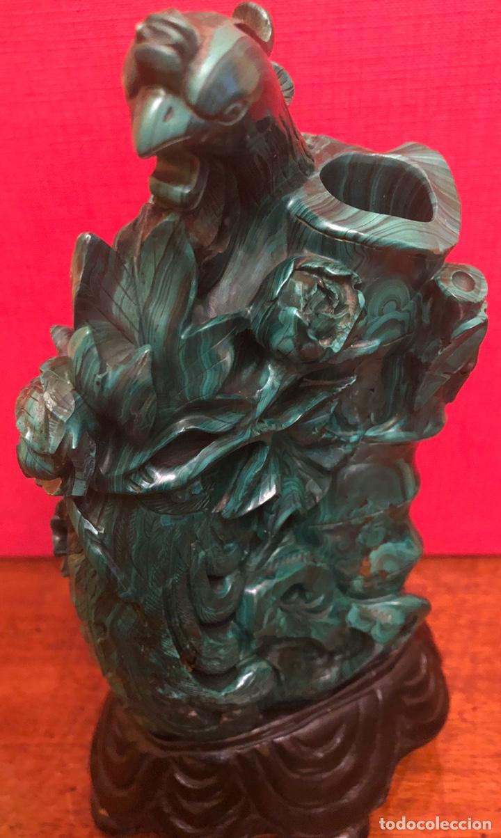 Arte: Preciosa figura en malaquita tallada - Foto 11 - 180189617