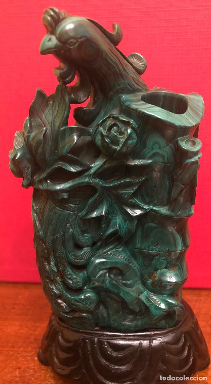 Arte: Preciosa figura en malaquita tallada - Foto 12 - 180189617