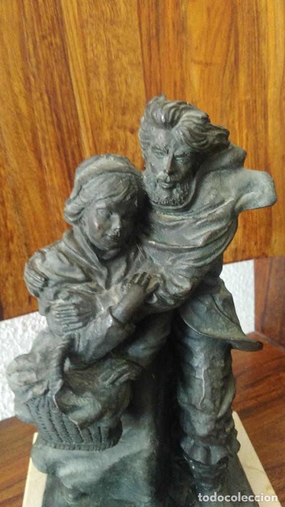 Arte: Josep Bofill, pareja al viento, escultura de resina, base marmol , firmada - Foto 5 - 180244373