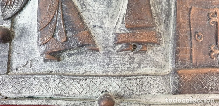 Arte: LA ANUNCIACIÓN A MARÍA. ESCULTURA DE BRONCE. RELIEVE. SIN FIRMAR. SIGLO XX. - Foto 5 - 181010558