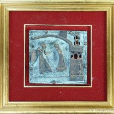 Arte: LA ANUNCIACIÓN A MARÍA. ESCULTURA DE BRONCE. RELIEVE. SIN FIRMAR. SIGLO XX. . Lote 181010558