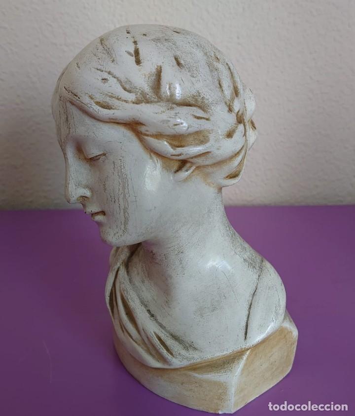 ANTIGUO BUSTO AFRODITA 1920 PIEDRA CALIZA TECNICA DE ESCULTURA LIGERA (Arte - Escultura - Piedra)