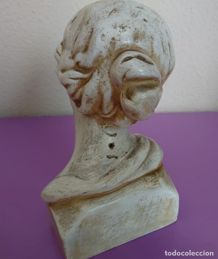 Arte: ANTIGUO BUSTO AFRODITA 1920 PIEDRA CALIZA TECNICA DE ESCULTURA LIGERA - Foto 8 - 181139372