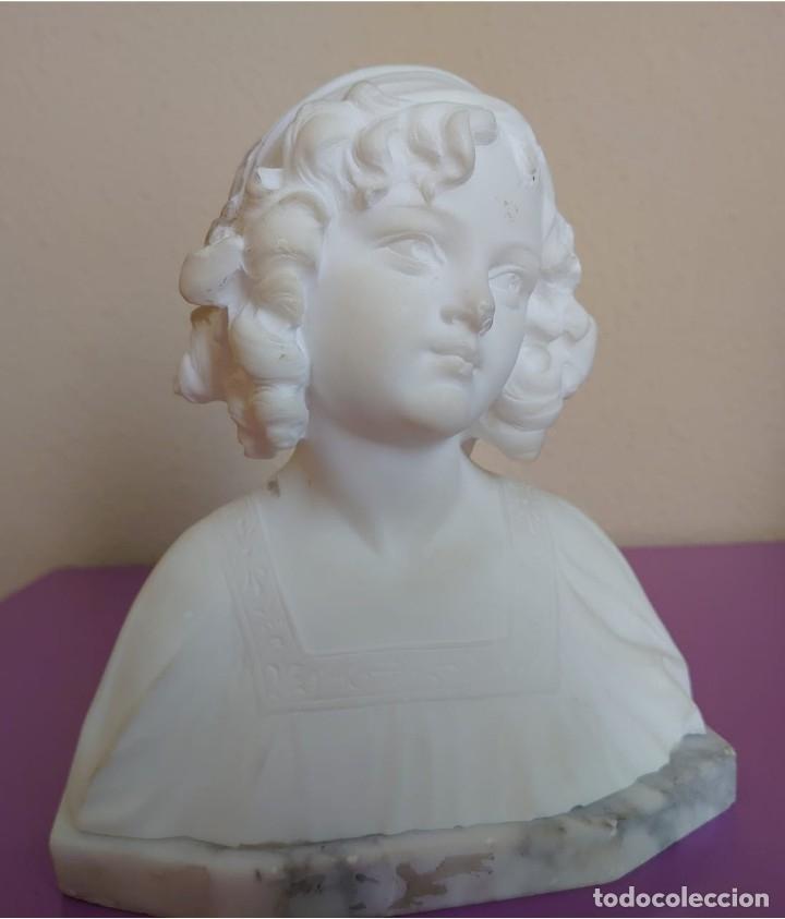 BUSTO MARMOL CARRARA CIPRIANI (Arte - Escultura - Piedra)