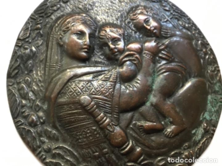 Arte: Medallón de bronce Madonna de Rafael - Foto 4 - 181326905