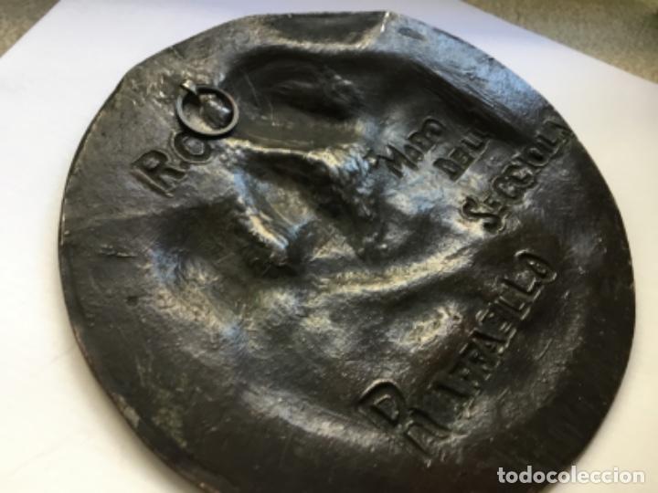 Arte: Medallón de bronce Madonna de Rafael - Foto 6 - 181326905