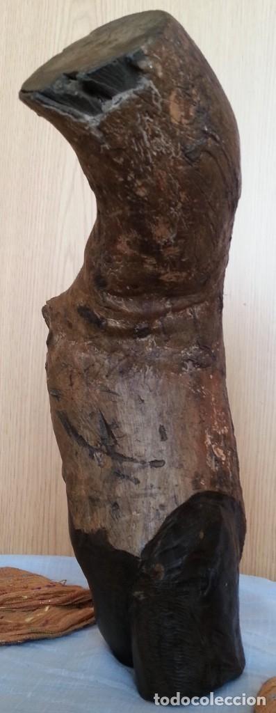 Arte: Efigie de mujer. Escultura en madera tallada. Origen Cubano - Foto 4 - 181485272