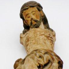 Arte: TALLA DE CRISTO EN MADERA SIGLO XVIII. Lote 181828531
