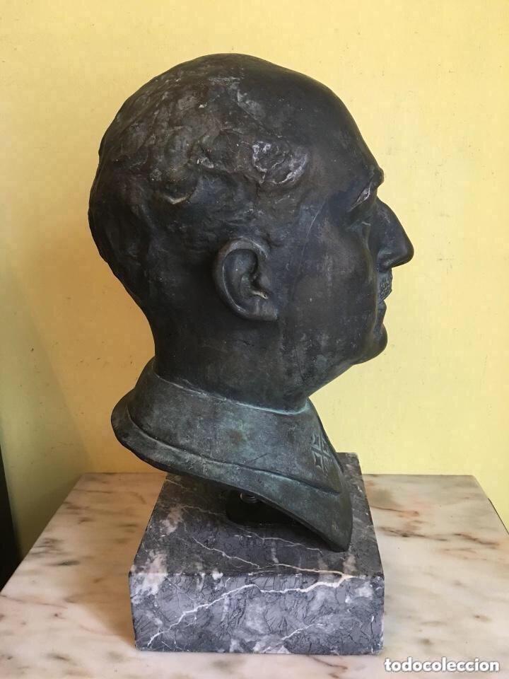 Arte: Busto De Francisco franco firmado y con sello de fundición - Foto 5 - 181853158
