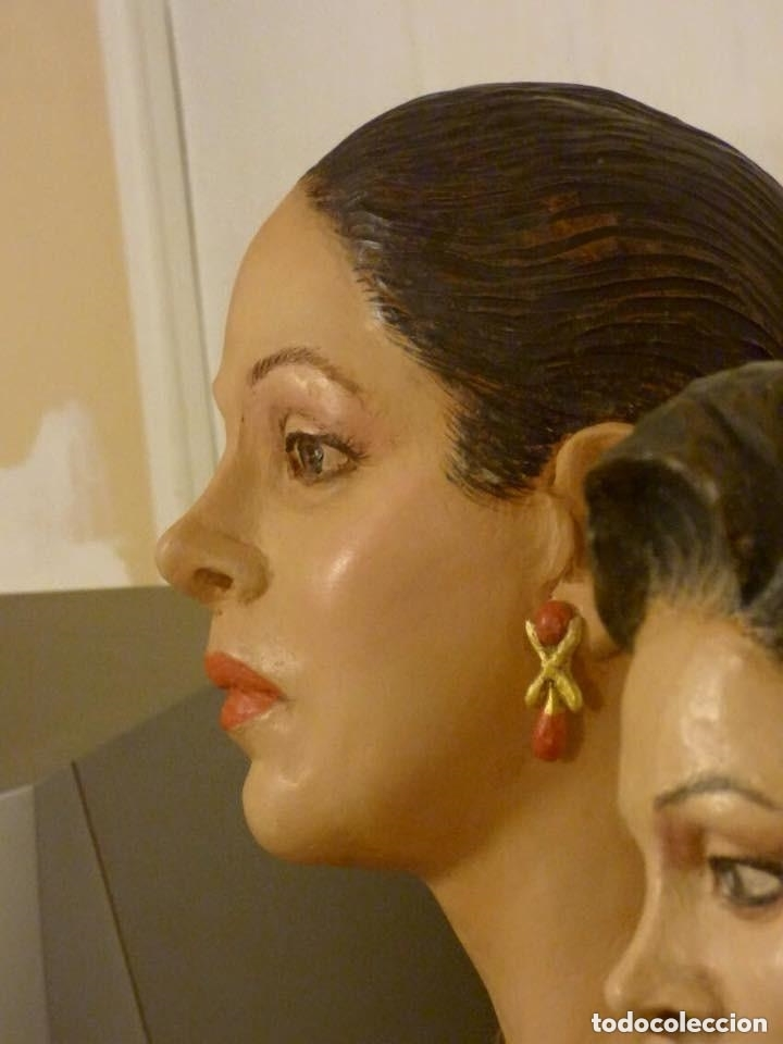 Arte: busto gran tamaño BONITA ESCULTURA DE ISABEL PANTOJA TERRACOTA barro cocido policromado, 2015 - Foto 6 - 181961441
