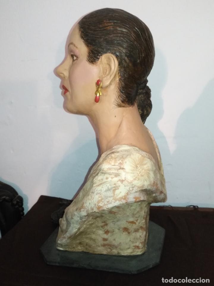 Arte: busto gran tamaño BONITA ESCULTURA DE ISABEL PANTOJA TERRACOTA barro cocido policromado, 2015 - Foto 7 - 181961441