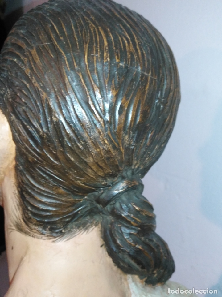 Arte: busto gran tamaño BONITA ESCULTURA DE ISABEL PANTOJA TERRACOTA barro cocido policromado, 2015 - Foto 10 - 181961441