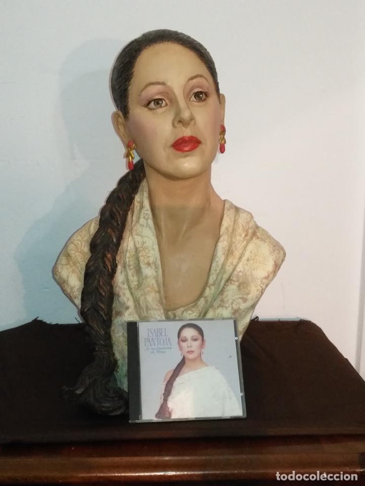 Arte: busto gran tamaño BONITA ESCULTURA DE ISABEL PANTOJA TERRACOTA barro cocido policromado, 2015 - Foto 16 - 181961441
