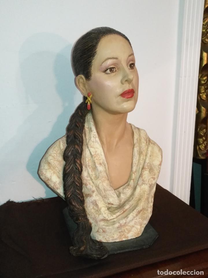 Arte: busto gran tamaño BONITA ESCULTURA DE ISABEL PANTOJA TERRACOTA barro cocido policromado, 2015 - Foto 19 - 181961441