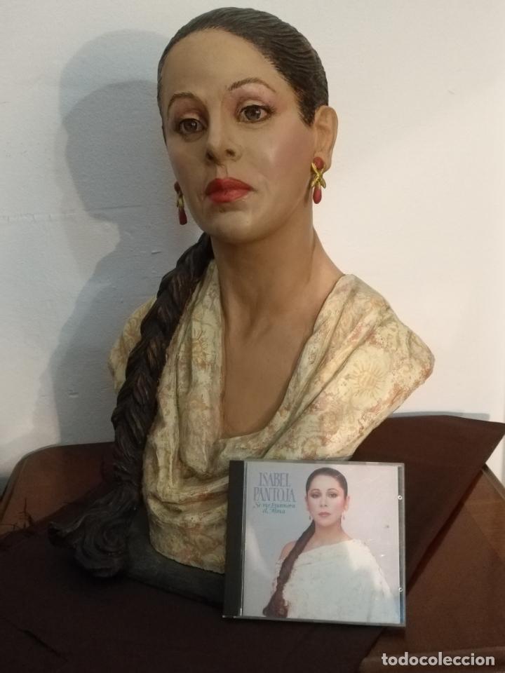 Arte: busto gran tamaño BONITA ESCULTURA DE ISABEL PANTOJA TERRACOTA barro cocido policromado, 2015 - Foto 22 - 181961441