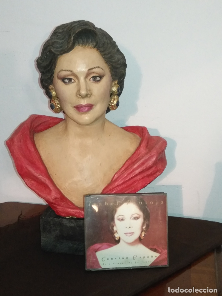 ISABEL PANTOJA GRAN ESCULTURA BARRO POLICRAMADA TERRACOTA 41X30X19CM (Arte - Escultura - Terracota )