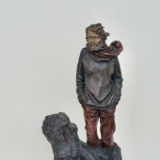 Arte: ESCULTURA EN RESINA PLICROMADA DE JOSEP BOFILL. Lote 181991733