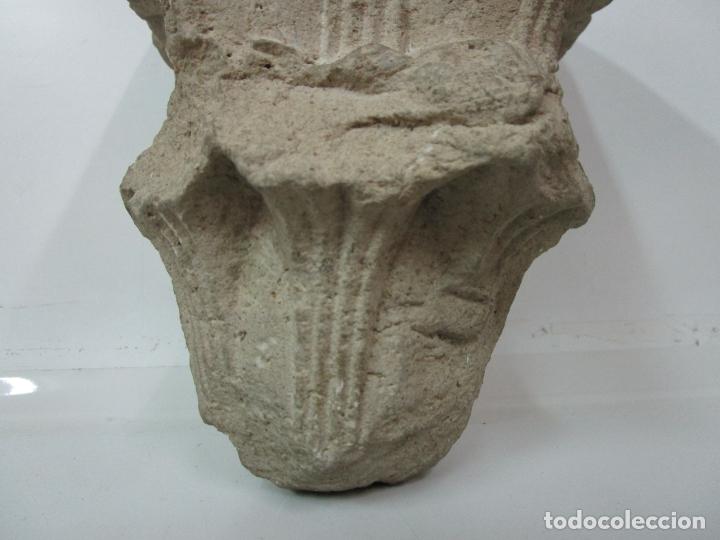 Arte: Precioso Capitel Gótico - Piedra Gerundense con Motivos Vegetales - Girona, Edad Media - S. XV - Foto 4 - 182147106