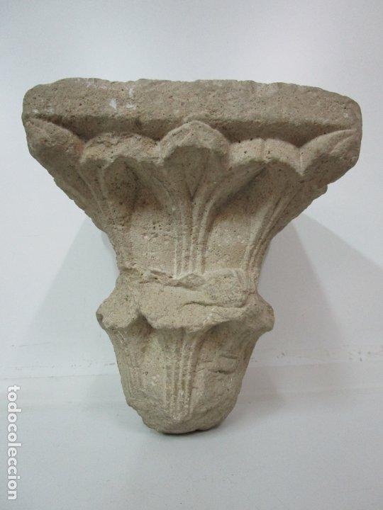 Arte: Precioso Capitel Gótico - Piedra Gerundense con Motivos Vegetales - Girona, Edad Media - S. XV - Foto 10 - 182147106