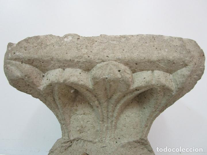 Arte: Precioso Capitel Gótico - Piedra Gerundense con Motivos Vegetales - Girona, Edad Media - S. XV - Foto 13 - 182147106