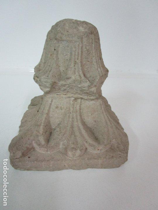Arte: Precioso Capitel Gótico - Piedra Gerundense con Motivos Vegetales - Girona, Edad Media - S. XV - Foto 19 - 182147106