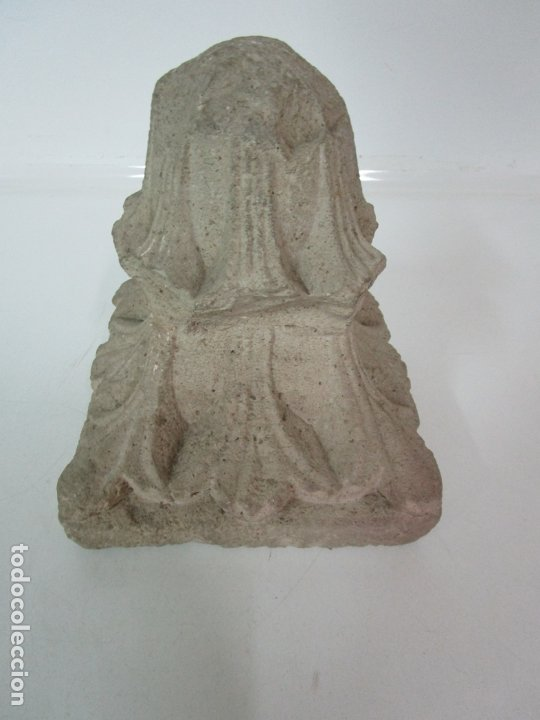 Arte: Precioso Capitel Gótico - Piedra Gerundense con Motivos Vegetales - Girona, Edad Media - S. XV - Foto 21 - 182147106
