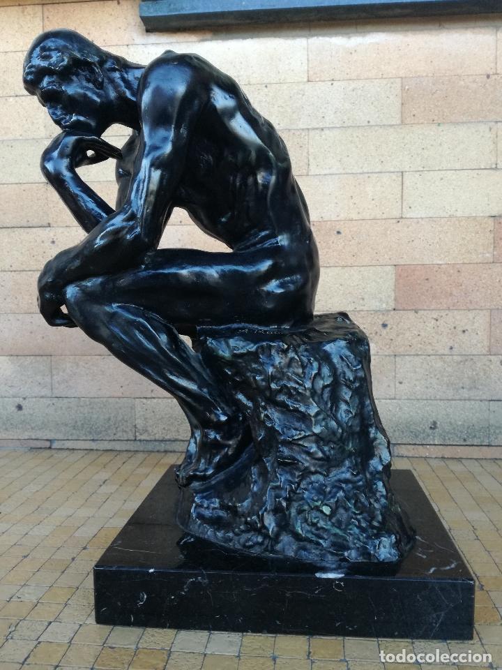 ESCULTURA DE BRONCE. EL PENSADOR DE RODIN. SERIE LIMITADA. ORIGINAL ALTURA: 38,5 CM (Arte - Escultura - Bronce)