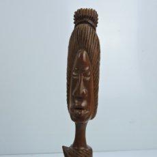 Arte: ESCULTURA - TALLA DE MADERA - ESTILO AFRICANO DECORACION. Lote 182296572