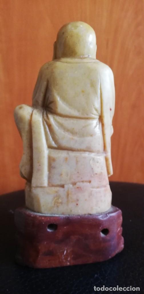 Arte: Figura Oriental tallada en piedra jabonosa - Foto 3 - 182317360