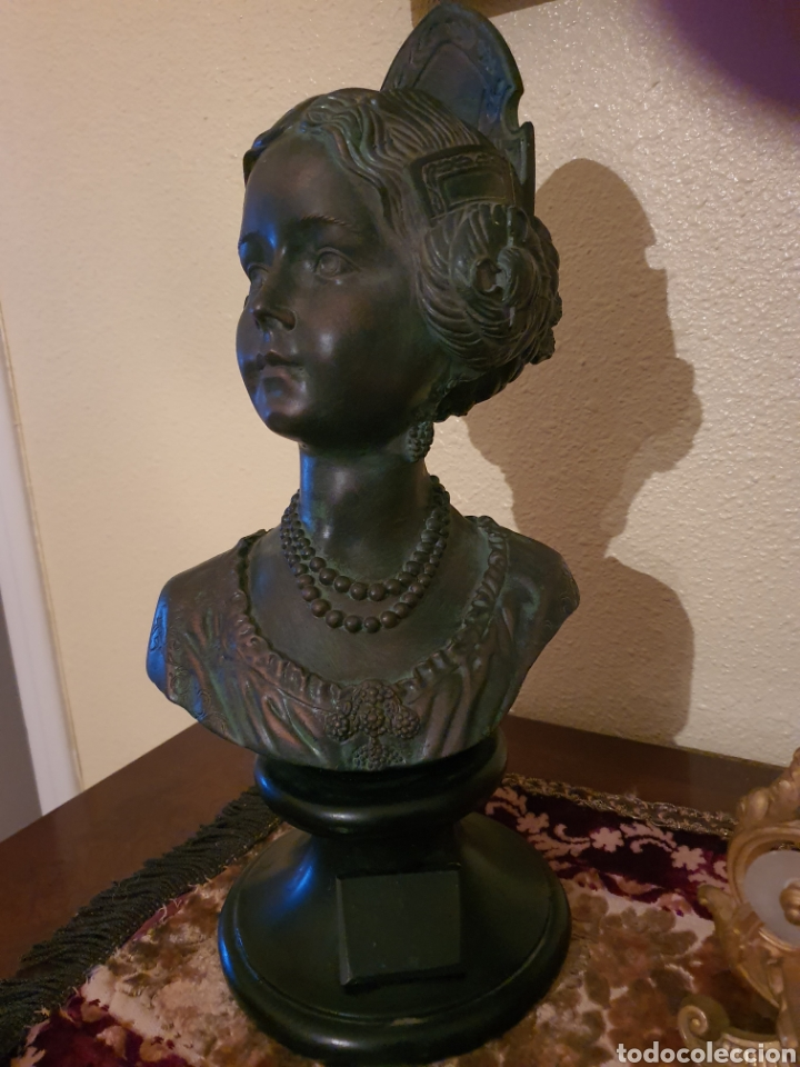 Arte: figura fallera pie mármol y piedra patinada bronce. - Foto 2 - 182382520