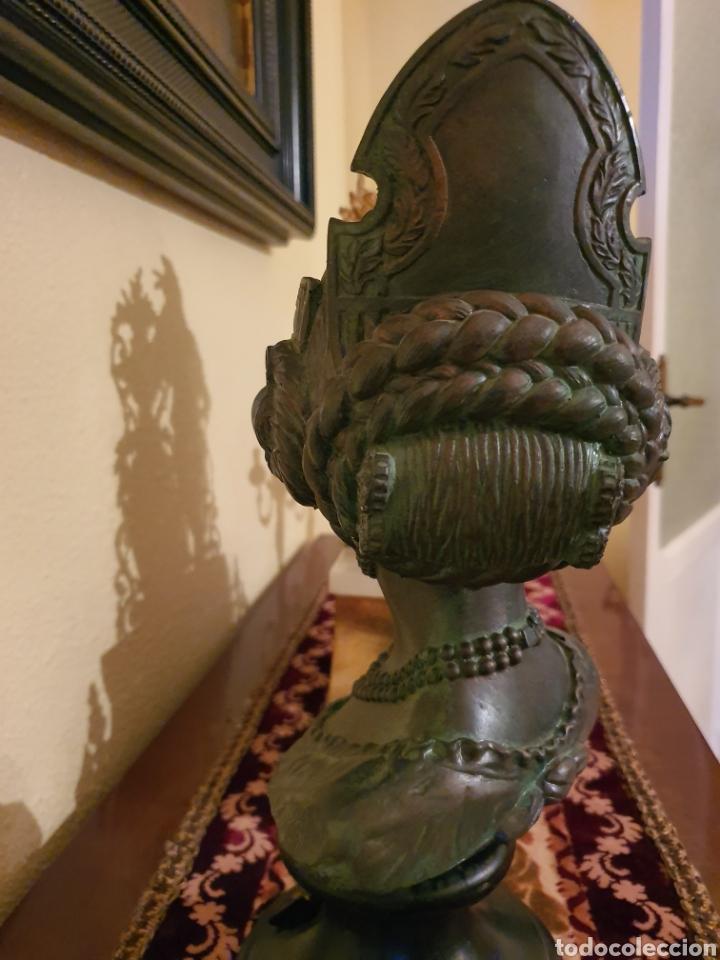 Arte: figura fallera pie mármol y piedra patinada bronce. - Foto 6 - 182382520