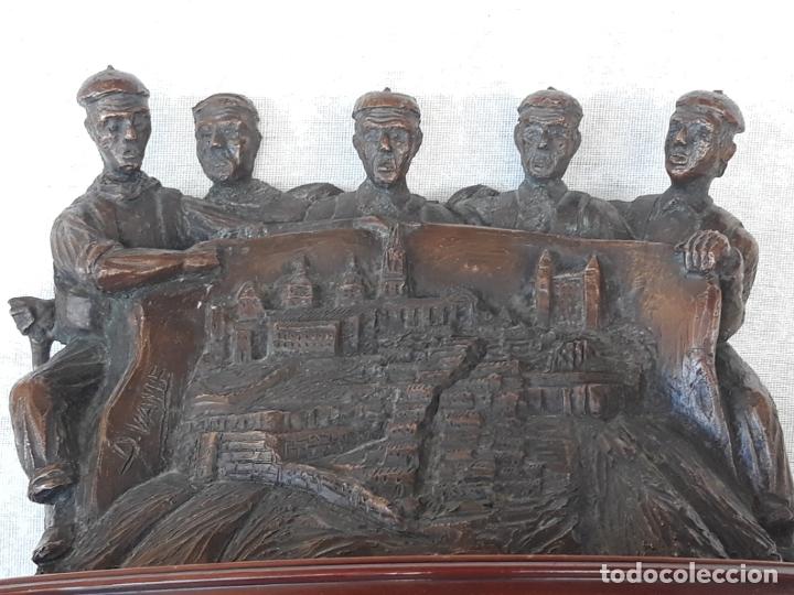 Arte: ESCULTURA EN RESINA - ALEGORIA A TOLEDO. FIRMADA. - Foto 5 - 182524943