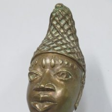 Arte: BUSTO DE MUJER AFRICANA CON COLLAR DE ANILLOS. AFRICA. Lote 182537581
