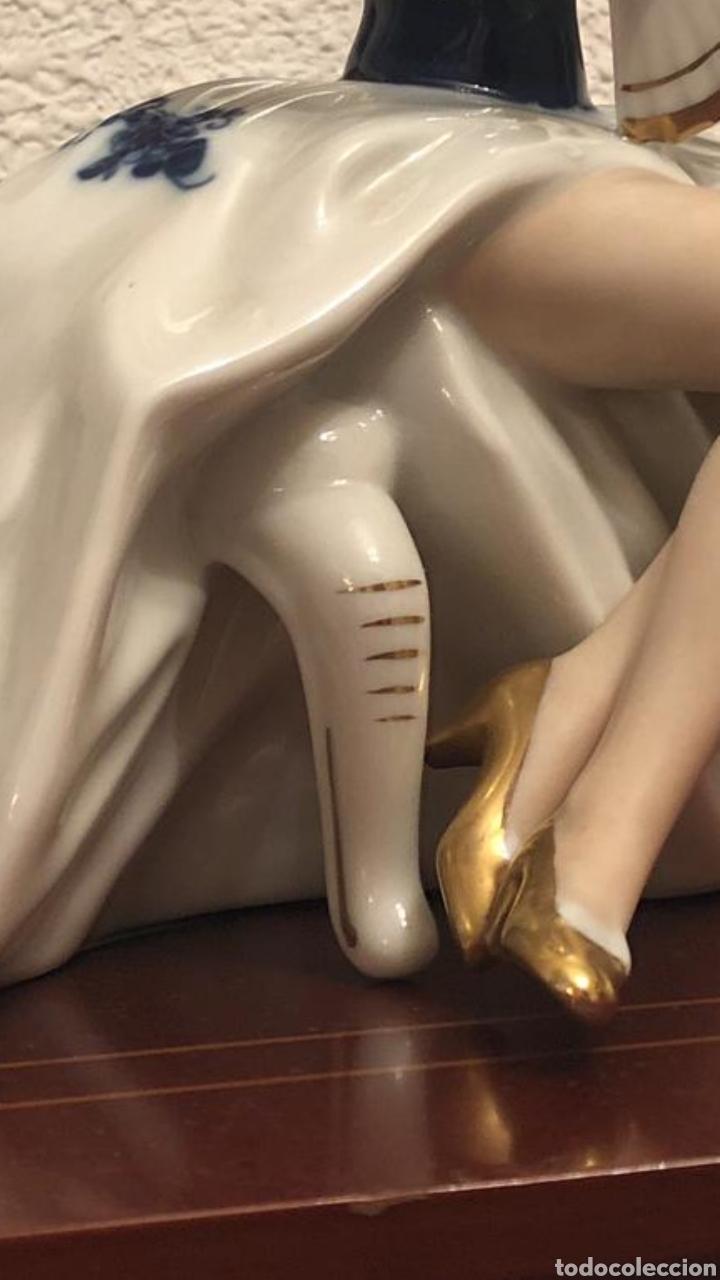 Arte: Figura de porcelana alemana - Foto 3 - 182610028