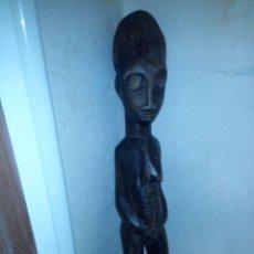 Arte: TALLA AFRICANA DE MADERA MATERNIDAD. Lote 182741220