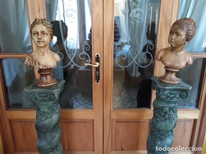 Arte: Pareja bustos terracota S XIX. SEGÚN MODELOS de HOUDON y G. PUGI - Foto 3 - 182743706
