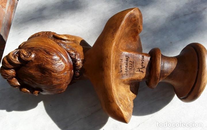 Arte: Pareja bustos terracota S XIX. SEGÚN MODELOS de HOUDON y G. PUGI - Foto 5 - 182743706