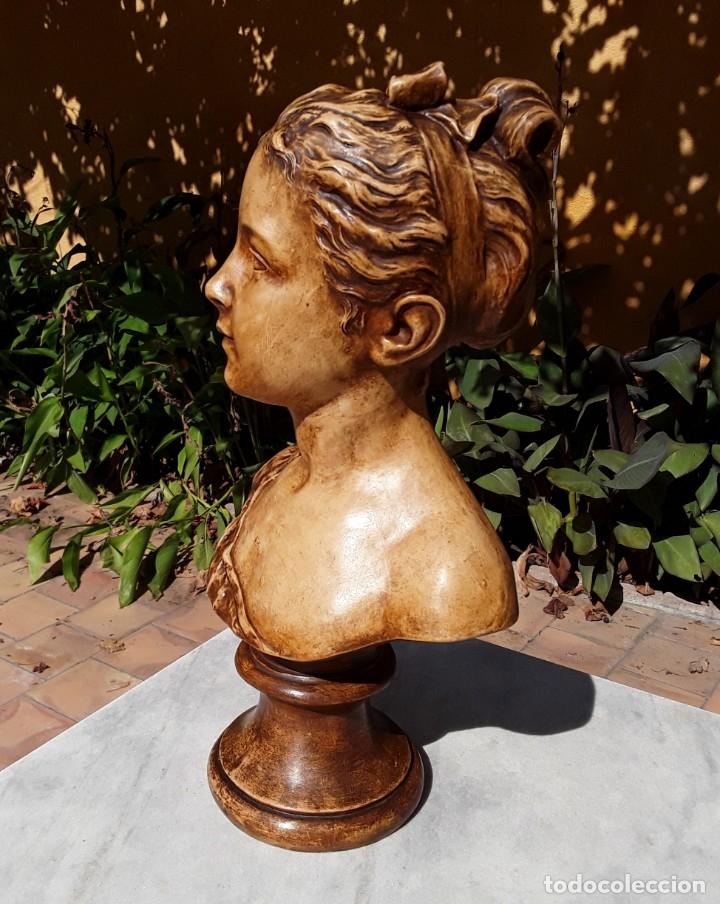 Arte: Pareja bustos terracota S XIX. SEGÚN MODELOS de HOUDON y G. PUGI - Foto 10 - 182743706
