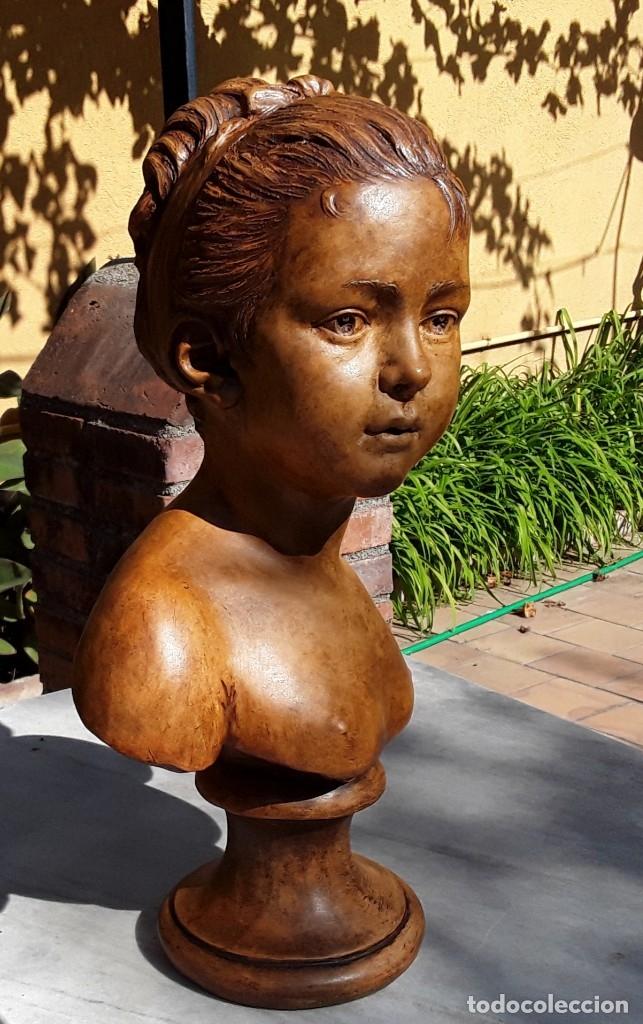 Arte: Pareja bustos terracota S XIX. SEGÚN MODELOS de HOUDON y G. PUGI - Foto 14 - 182743706