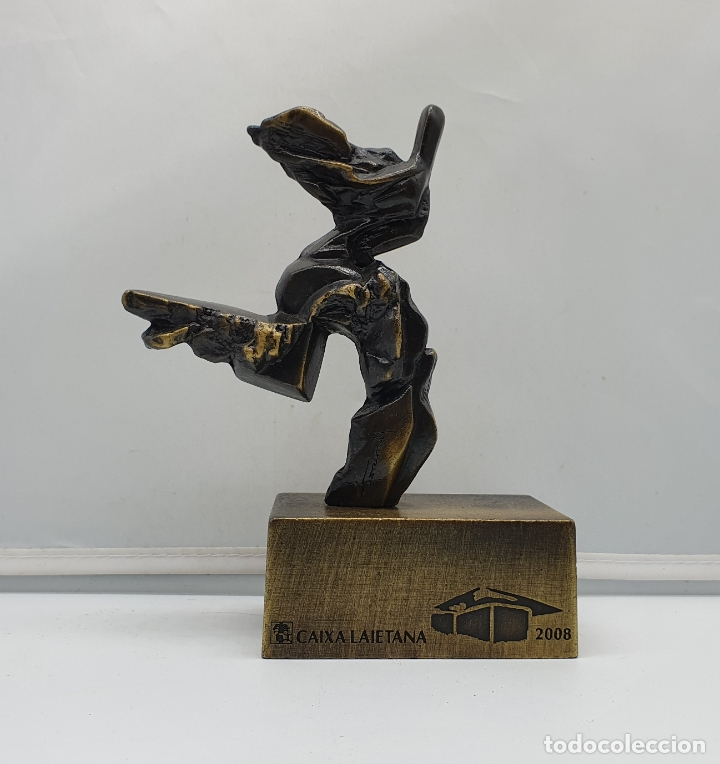Arte: Original escultura abstracta en bronce macizo firmada por el artista . - Foto 4 - 182752552