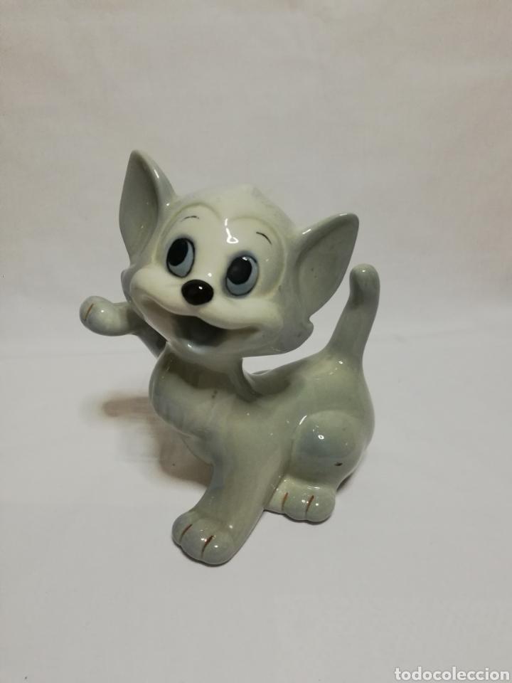 FIGURA GATO EN PORCELANA WALT DISNEY PRODUCCIÓN (Arte - Escultura - Porcelana)