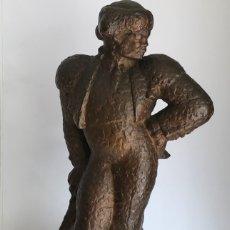 Arte: JOSÉ LUIS IGLESIAS MANGOT, ELEGANTE BRONCE DE TORERO FUNDICIÓN BECHINI 1940'S. TAUROMAQUIA. . Lote 182836143